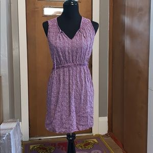 LOFT, Ann Taylor purple and white sleeveless dress